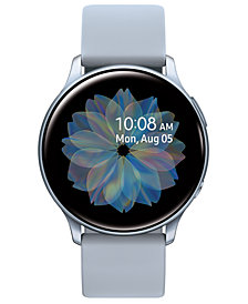Samsung Galaxy Active 2 Gray Silicone Strap Touchscreen Smart Watch 40mm