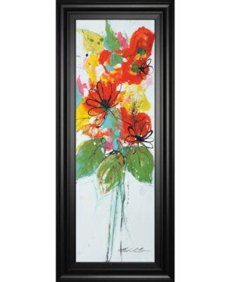 "Sensations Il by Natasha Barnes Framed Print Wall Art - 18"" x 42"""