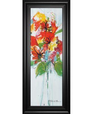 "Sensations I by Natasha Barnes Framed Print Wall Art - 18"" x 42"""