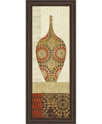 "Spice Stripe Vessels Panel III by Wild Apple Portfolio Framed Print Wall Art - 18"" x 42"""