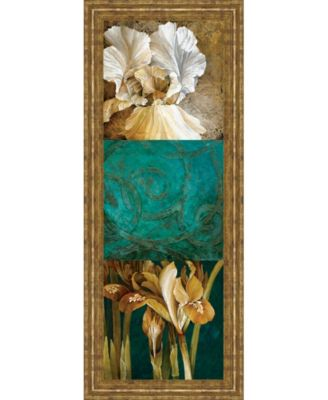 """From My Garden Il by Linda Thompson Framed Print Wall Art - 18"""" x 42"""""""