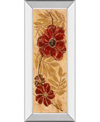 "Touch of Honey I by Maria Donovan Mirror Framed Print Wall Art - 18"" x 42"""
