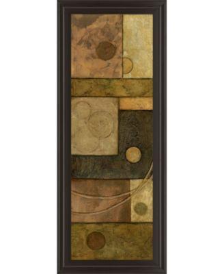 "Circle Game I by Norm Olson Framed Print Wall Art - 18"" x 42"""