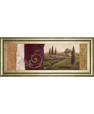 """Tuscan Scene I Framed Print Wall Art - 18"""" x 42"""""""