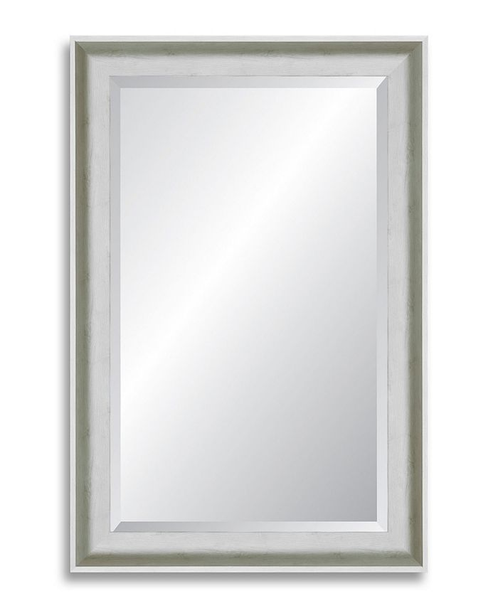 Reveal Frame & Décor - Candlelight White Grande Beveled Wall Mirror