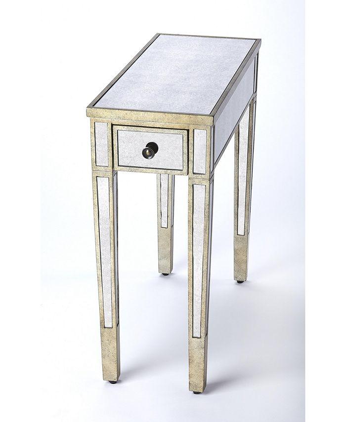 Butler - Katarina Mirrored Chairside Table, Quick Ship