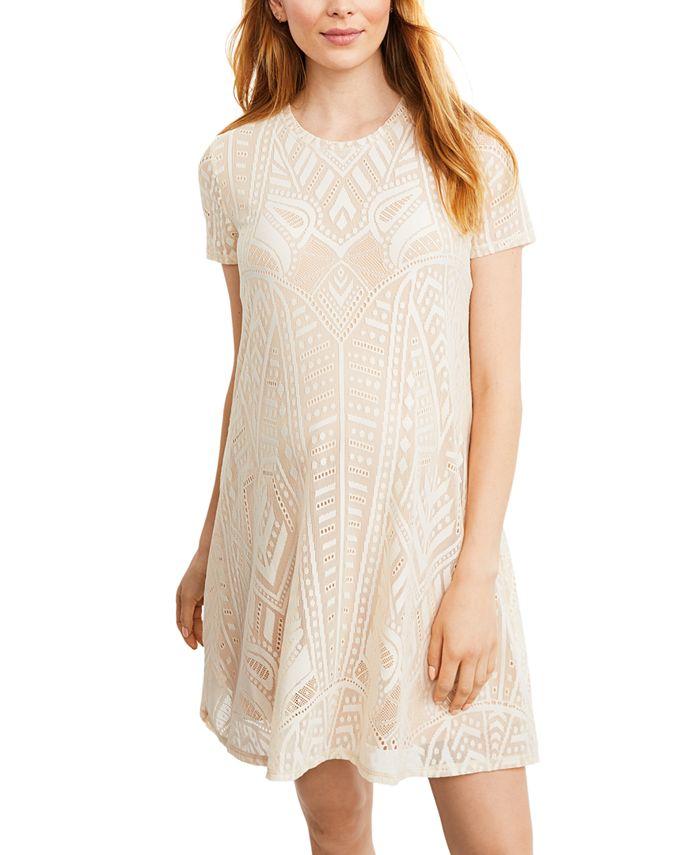 BCBGMAXAZRIA - Maternity Textured A-Line Dress
