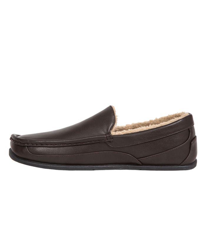 DEER STAGS Slipperooz Men's Spun Indoor Outdoor S.U.P.R.O. Sock Cozy Moccasin Slipper & Reviews - All Men's Shoes - Men - Macy's