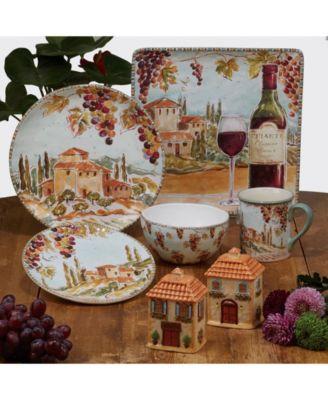 Tuscan Breeze 4-Pc. Soup Bowls