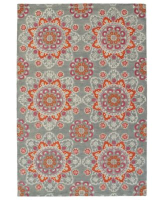 Global Inspirations GLB12-75 Gray 9' x 12' Area Rug