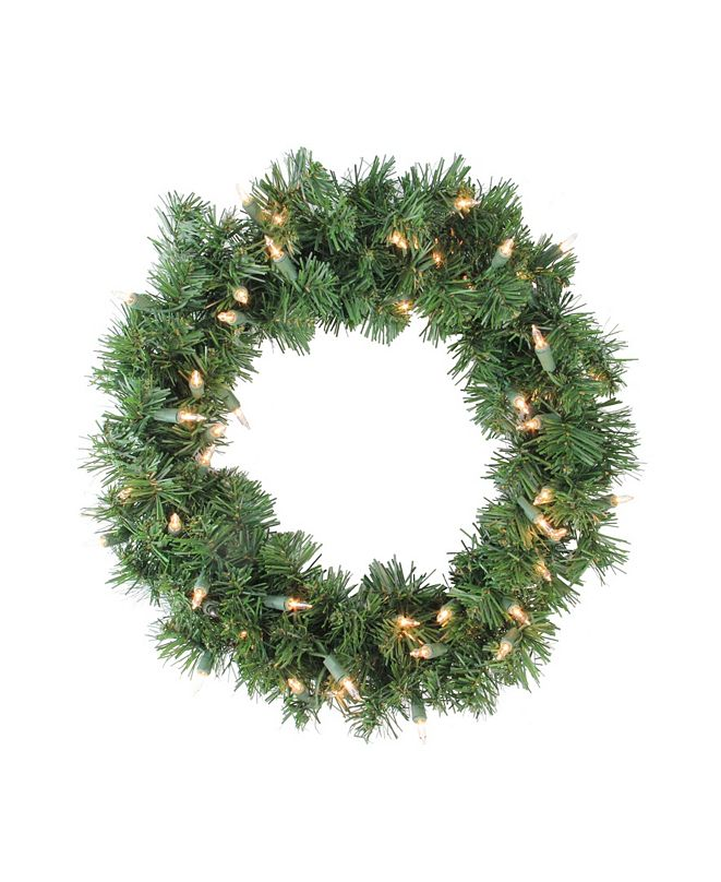 Northlight Deluxe Windsor Pine Artificial Christmas Wreath - 16-Inch Clear Lights