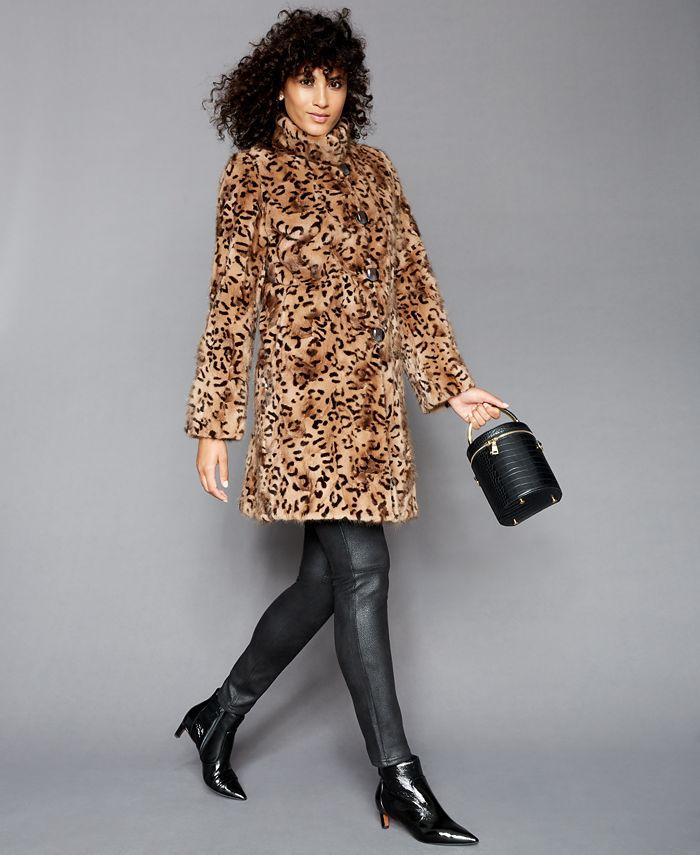 The Fur Vault - Printed Mink-Fur Reversible Coat