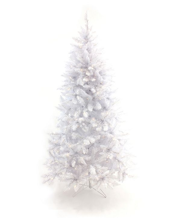 Perfect Holiday 5' Pre-Lit White Christmas Tree with Warm White LED Lights