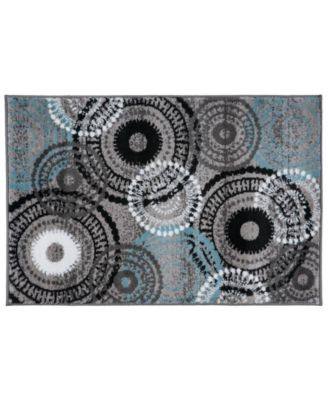 Montane Mon119 Blue/Gray 2' x 3' Area Rug
