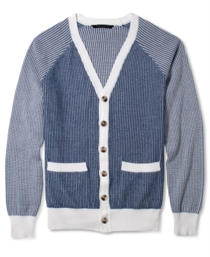 Sean John Sweater Raglan Sleeve Cardigan