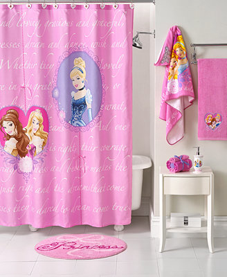 disney bath accessories princess timeless shower curtain