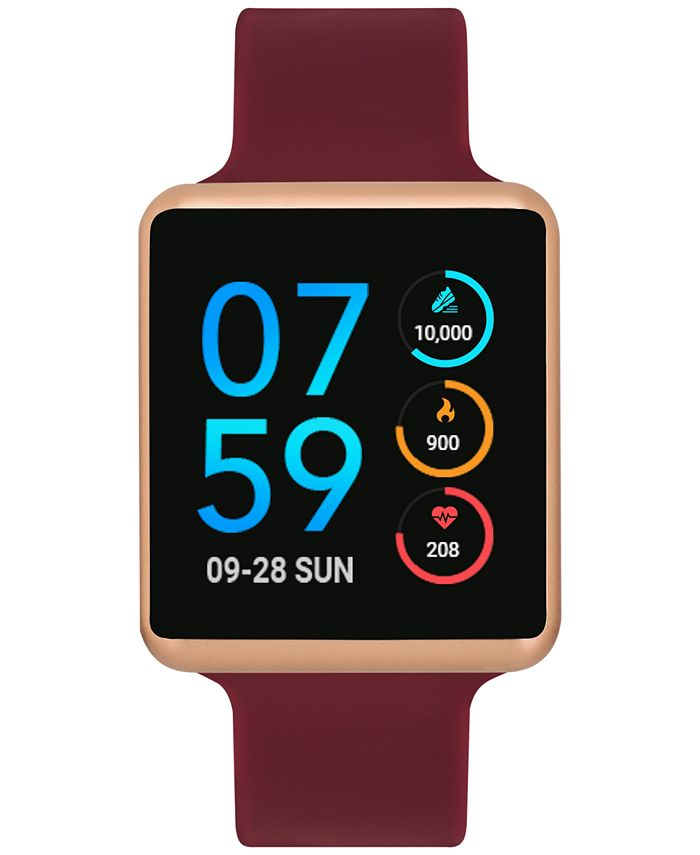 iTouch - Unisex Air Merlot Silicone Strap Touchscreen Smart Watch 35x41mm