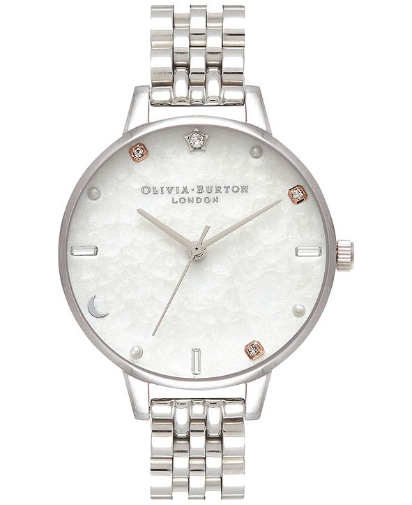 Olivia Burton Women's Celestial Stainless Steel Bracelet Watch 34mm
