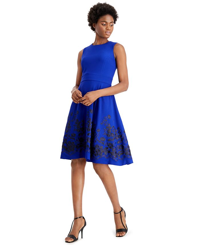 Calvin Klein - Embroidered A-Line Dress