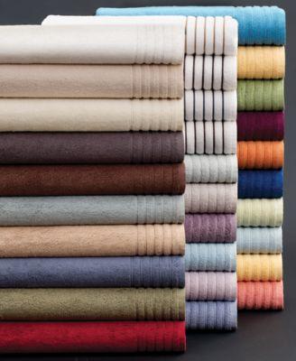 "Hotel Collection Bath Towels, MicroCotton 12"" x 13"" Washcloth"