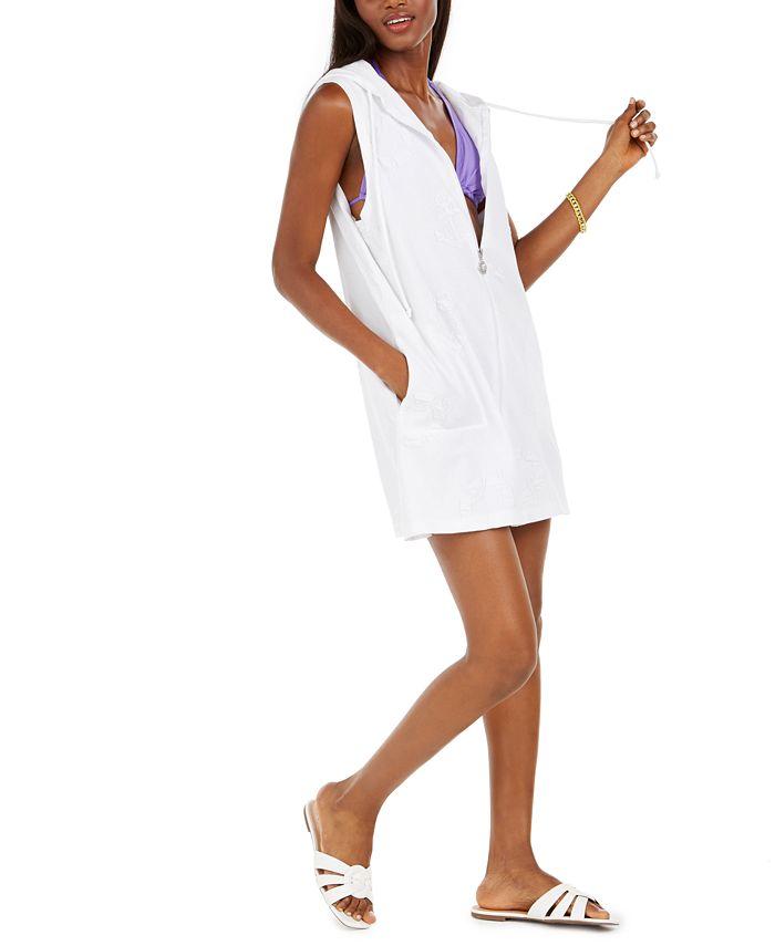 Dotti - Hooded Jacquard Cover-Up Dress