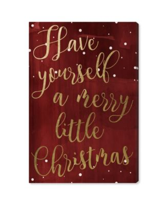 """Have Yourself A Merry Christmas Canvas Art, 16"""" x 24"""""""