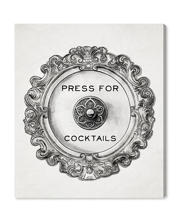 "Oliver Gal Press for Cocktails Canvas Art, 36"" x 45"""