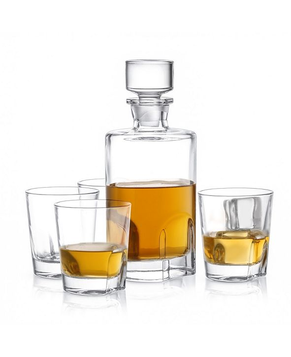 JoyJolt Carina Whiskey Decanter Set of 5