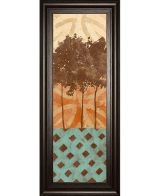 "Tribal Trio I by Alonzo Saunders Framed Print Wall Art, 18"" x 42"""