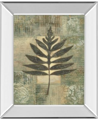 "Leaf Textures I by Norman Wyatt, Jr. Mirror Framed Print Wall Art, 22"" x 26"""