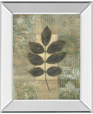 "Leaf Textures II by Norman Wyatt, Jr. Mirror Framed Print Wall Art, 22"" x 26"""