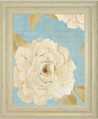 """Scripted Poetic Peonies II by Lanie Loreth Framed Print Wall Art, 22"""" x 26"""""""