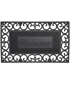 """Envelor Fleur De Lis Pin Rubber Pins Welcome Doormat, 18"""" x 30"""""""