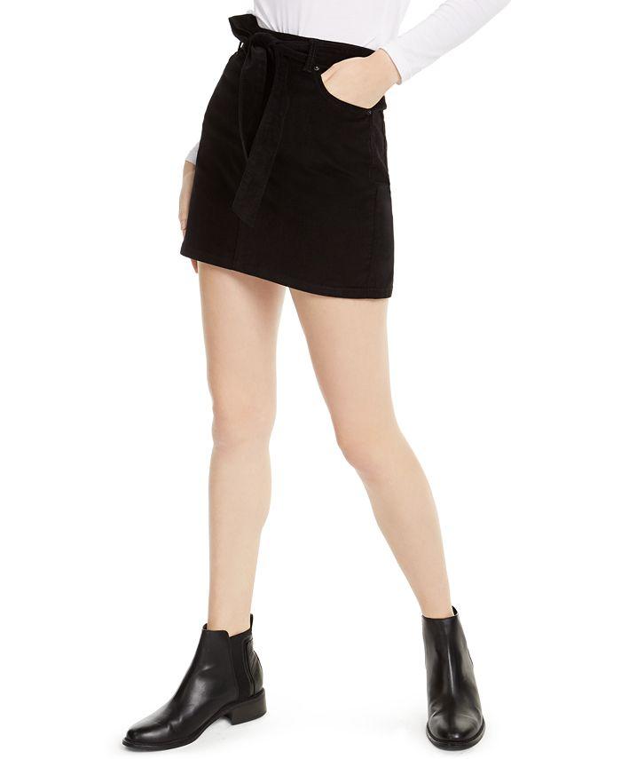 Vanilla Star - Juniors' Belted Corduroy Skirt