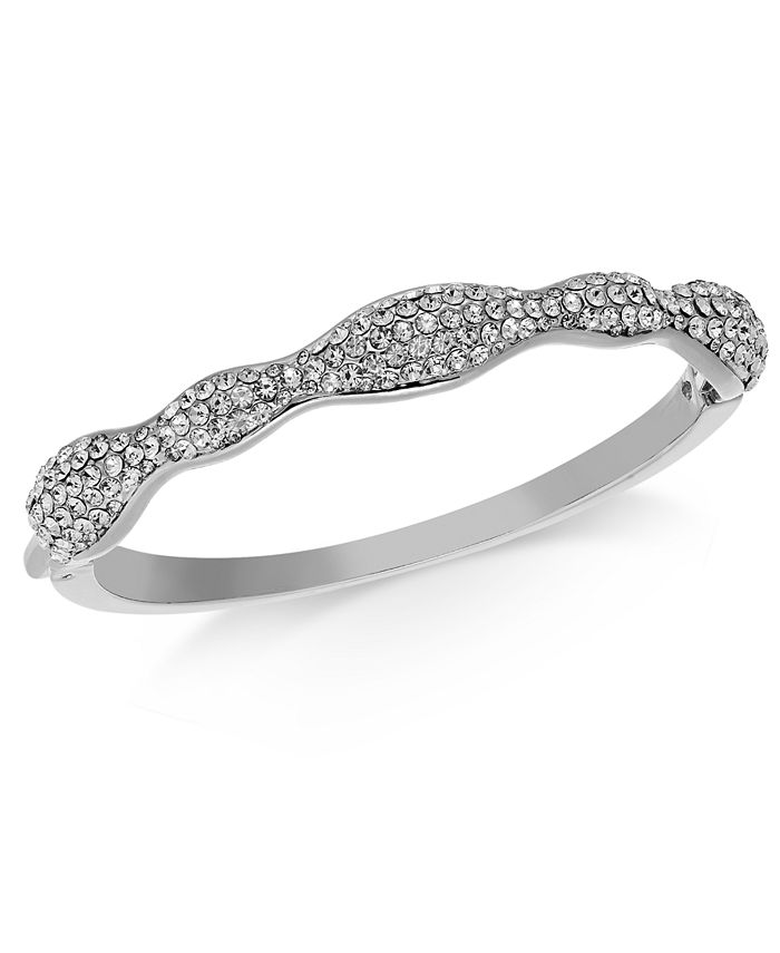Charter Club - Pavé Wavy Bangle Bracelet