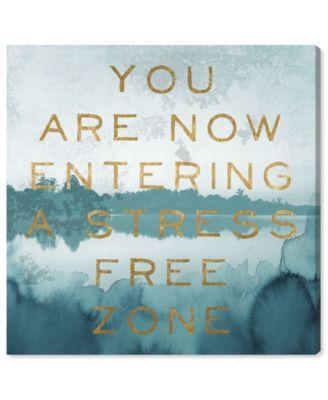 Stress Free Zone Canvas Art, 12