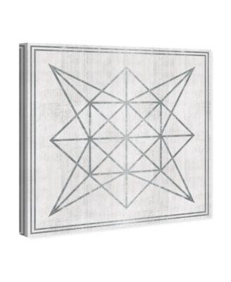 Whitewash Wood Geometric Star Canvas Art, 36