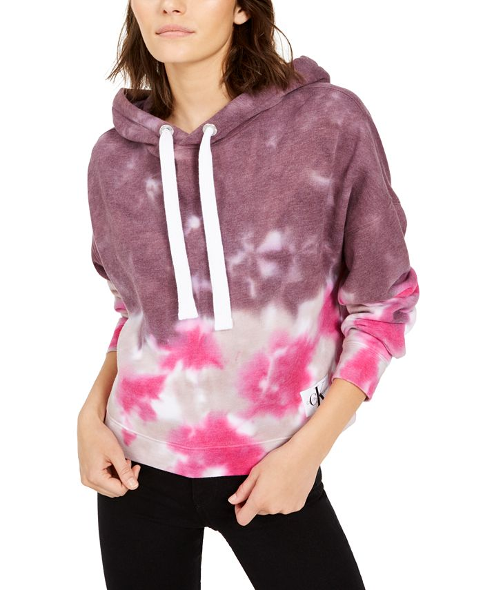 Calvin Klein Jeans - High Tide Tie-Dyed Cropped Hoodie