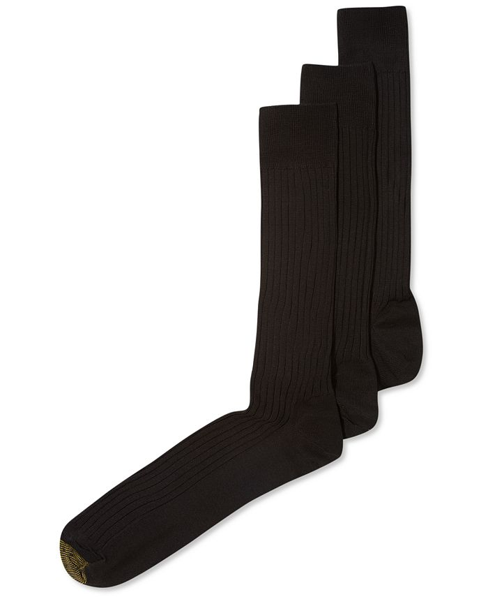 Gold Toe - ADC Canterbury 3 Pack Crew Dress Socks, Extended Sizes
