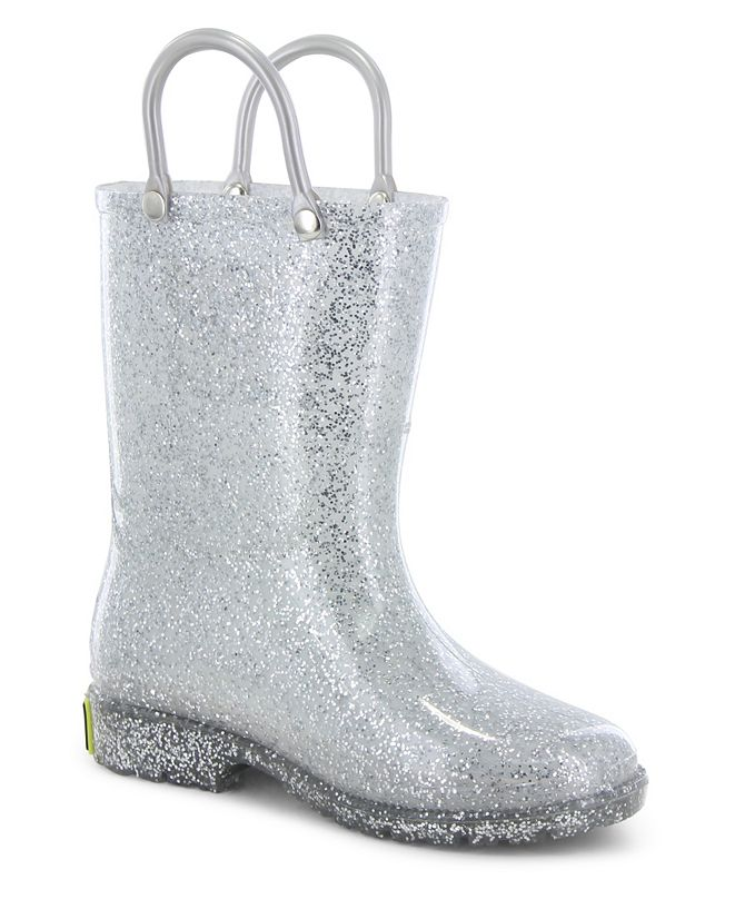 Western Chief Toddler, Little Girl's and Big Girl's Glitter Rain Boots