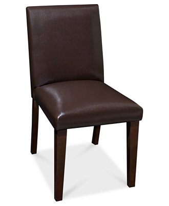 Addison leather dining room chair furniture macy39s for Macys dining room chairs