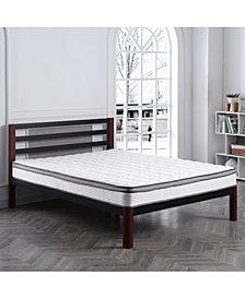 """Sleep Trends Cochelle 8"""" Cushion Firm Innerspring Euro Top Mattress- Queen, Mattress in a Box"""