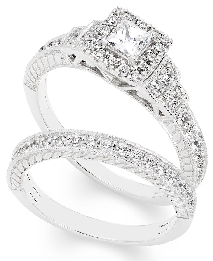 Macy's - Certified Diamond (1 ct. t.w.) Bridal Set in 14k White Gold
