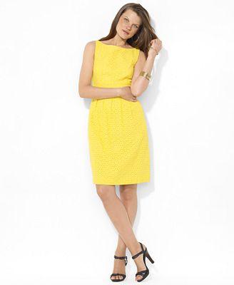 22a146a5f9f Macy s Yellow Dress. Lauren Ralph Lauren Dress