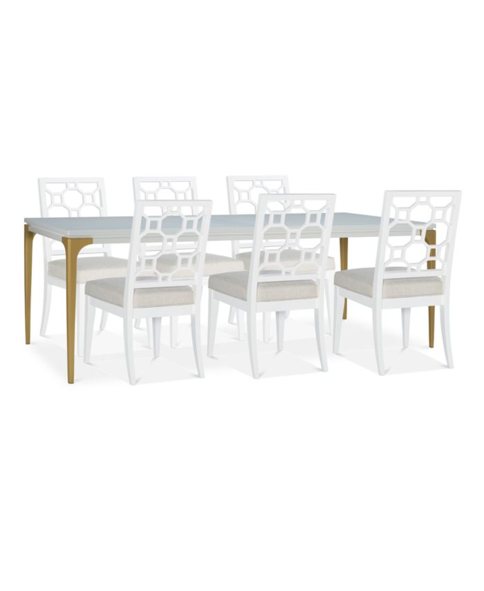 Furniture Chelsea Expandable Dining Furniture, 7-Pc. Set (Table & 6 Side Chairs) & Reviews - Furniture - Macy's