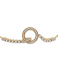 Wrapped™ Diamond Interlocking Loop Bolo Bracelet (1/3 ct t.w.) in 14k Gold, Created for Macy's