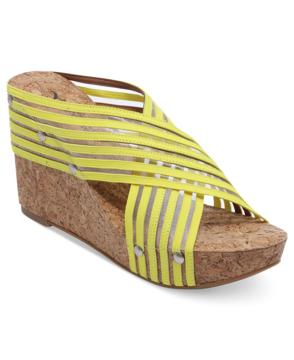 Isaac Mizrahi New York Cora Platform Wedge Slide Sandals   Shoes