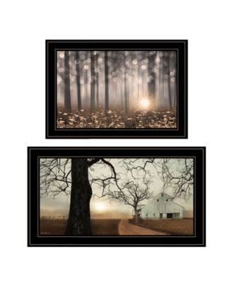 Enchanted Sunrise 2-Piece Vignette by Lori Deiter, White Frame, 27
