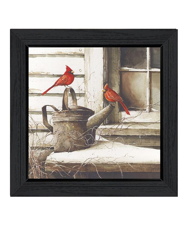 """Trendy Decor 4U Waiting For Spring By John Rossini, Printed Wall Art, Ready to hang, Black Frame, 15"""" x 15"""""""