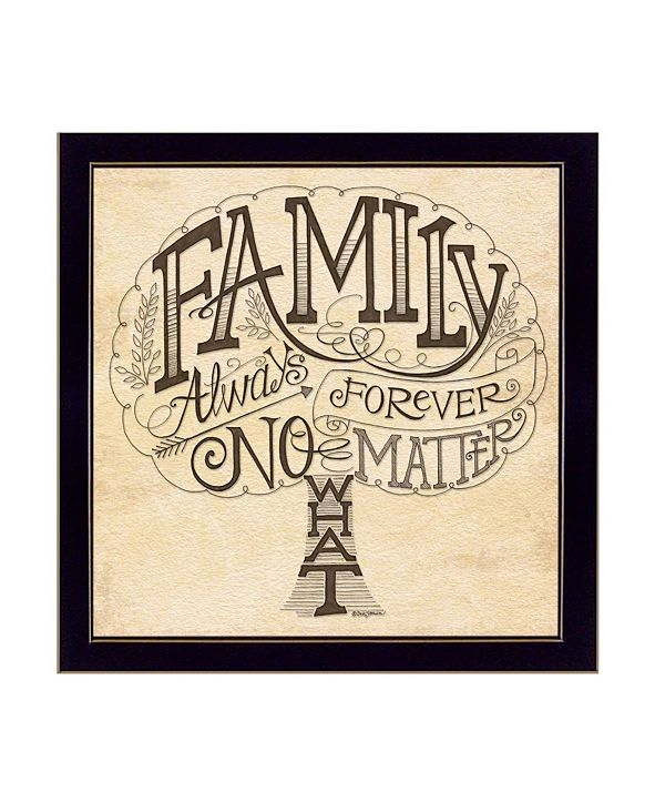 """Trendy Decor 4U Family - Always and Forever By Deb Strain, Printed Wall Art, Ready to hang, Black Frame, 20"""" x 20"""""""